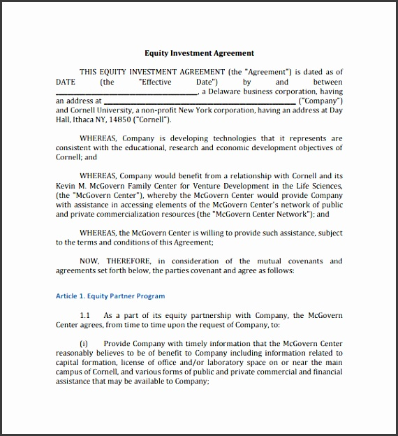 Editable Investment Contract Template  Sampletemplatess