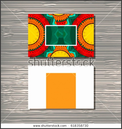 creative template for designer photographer or studio editable pattern with front and back side