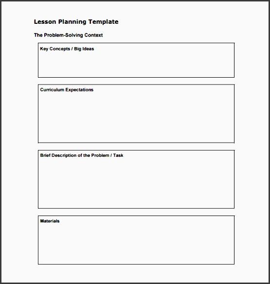 7 Editable Lesson Planner