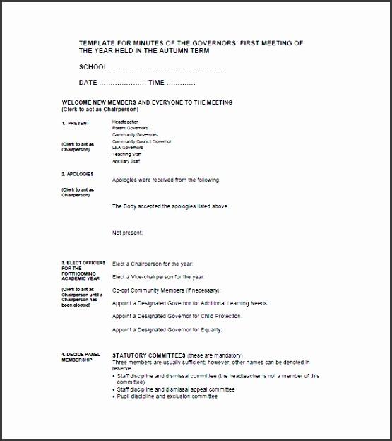 5 editable meeting minutes template