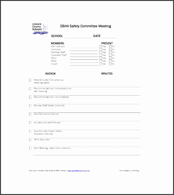 sample mittee meeting minutes templates
