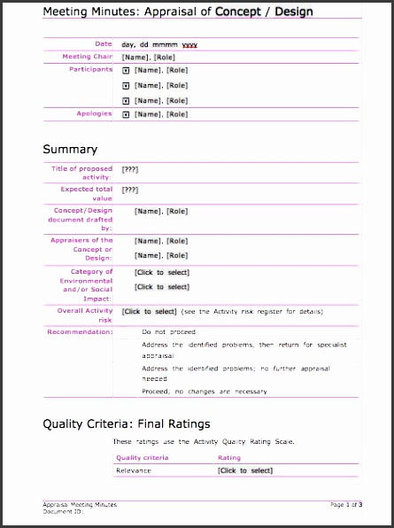 Printable Meeting Minutes Template 05  Minutes Notes Template