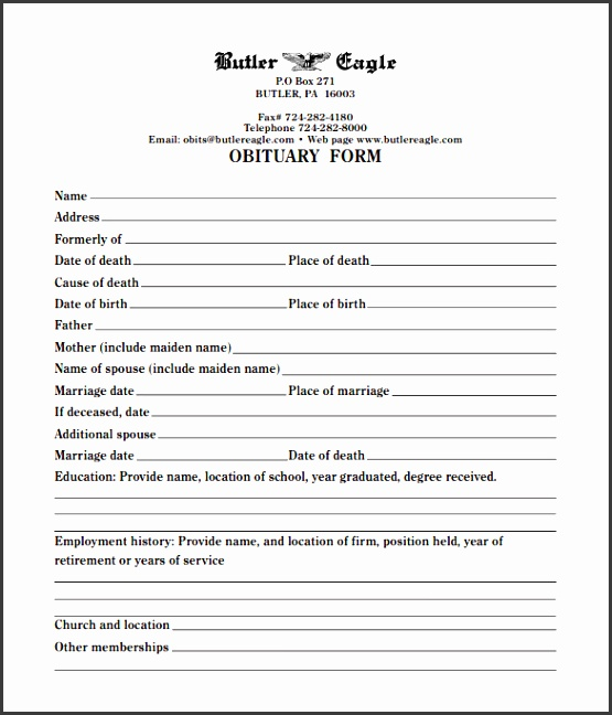 Amazing Free Obituary Templates Online Images  Example Resume