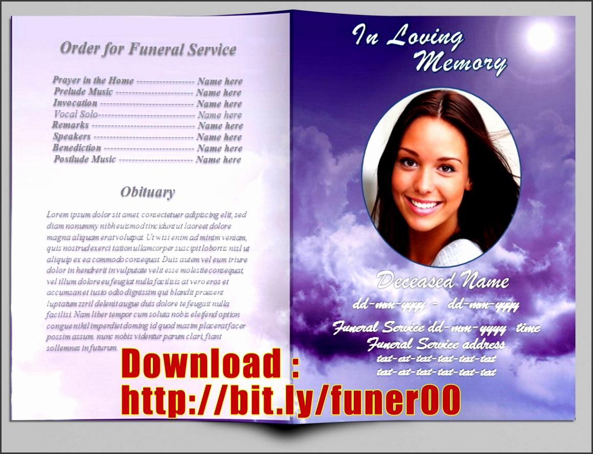 4  editable obituary template