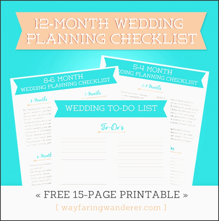 creative of wedding planning free wayfaring wanderer 12 month wedding planning checklist free