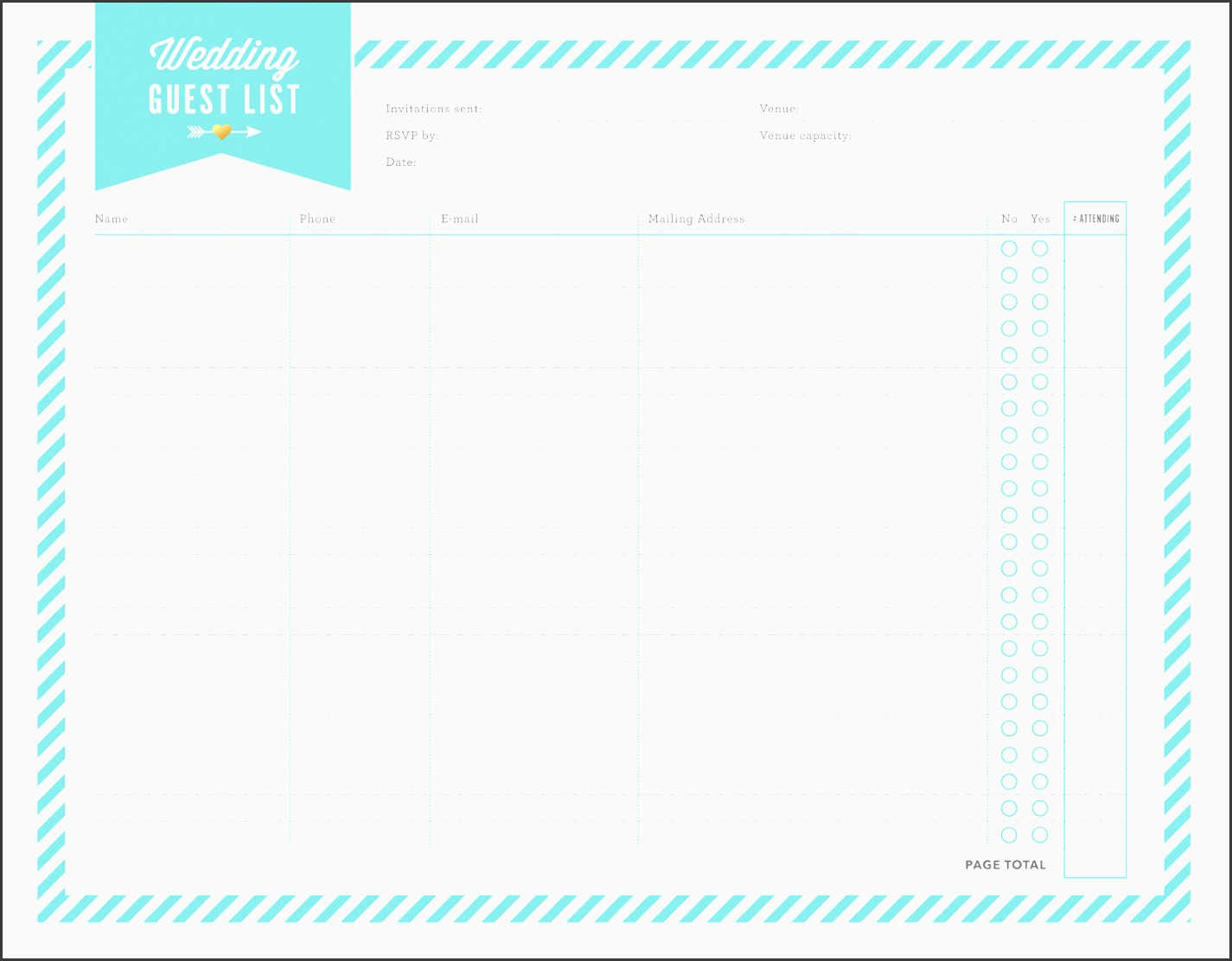 free wedding planner printables