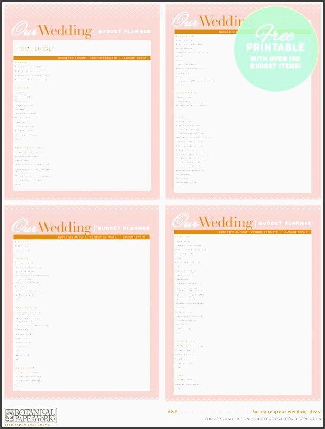 free printable wedding bud planner with over 150 trackable bud items available in both pdf and editable excel format