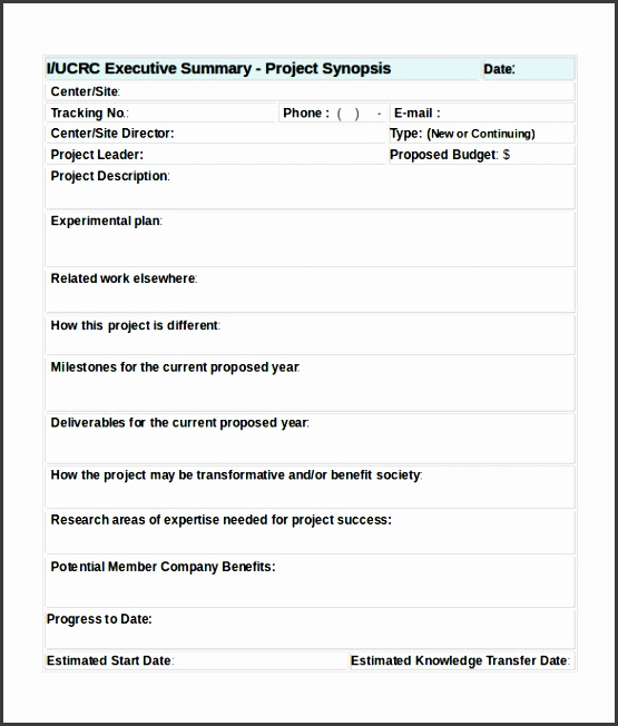Project Summary Template  Resume Ideas  NamanasaCom