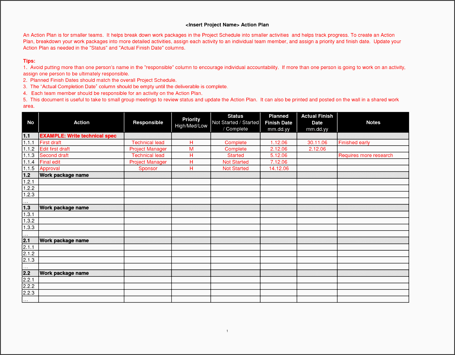9 Editable Project Team Communication Planner Template