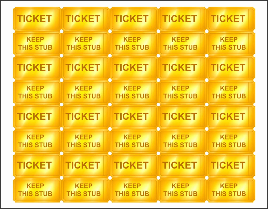 golden ticket template editable - 10 editable raffle ticket template sampletemplatess