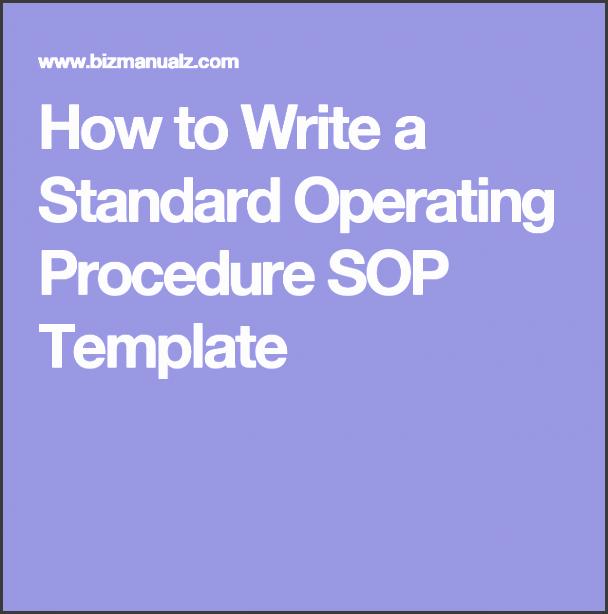 writing sops template - 11 editable standard operating procedure template
