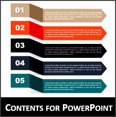 table of contents powerpoint template ribbons contents powerpoint printable
