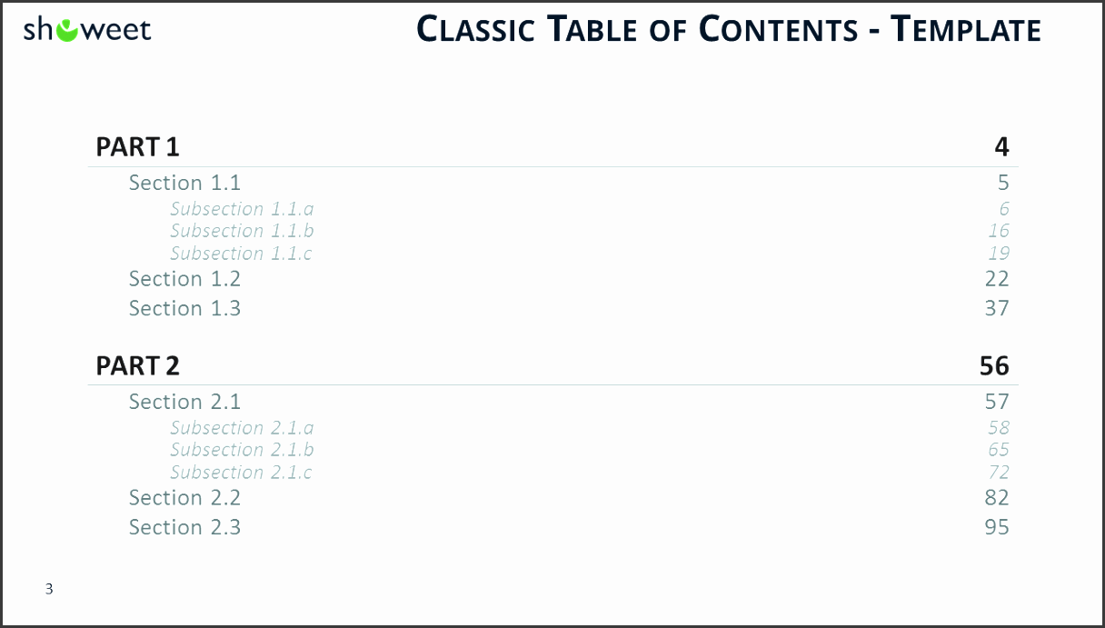 Snap 5 Table Of Contents Template Formats Examples In Word Excel
