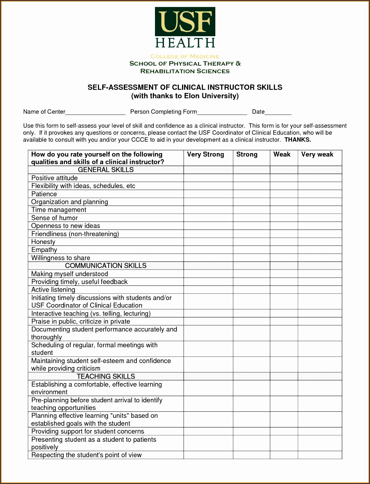 7 employee skills assessment template