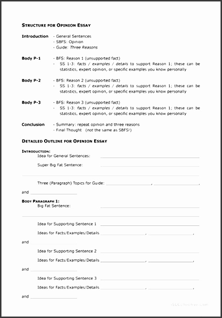 7 essay outline printable