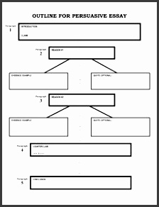 Writing an essay outline template