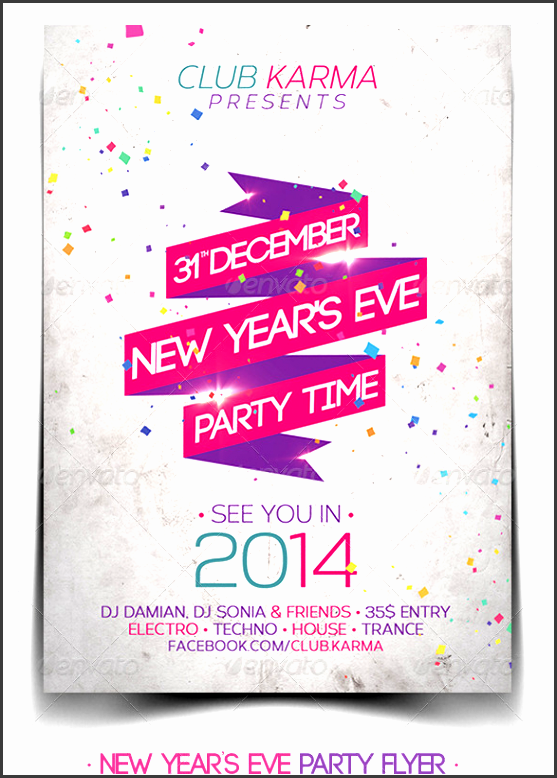 30 best 2014 new year flyer templates wdt web design for