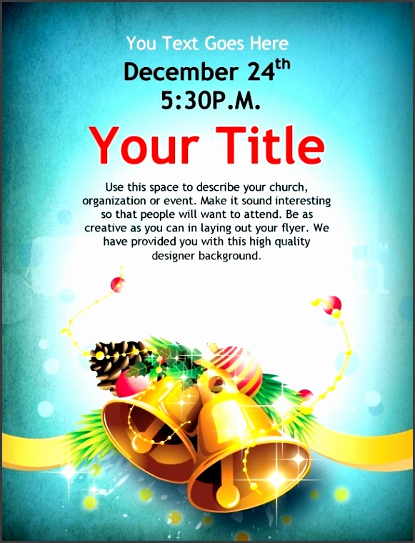 christmas bells flyer template template flyer templates pertaining to christmas event flyer template word