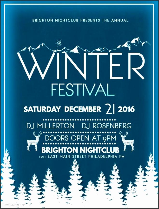 winter festival event flyer template