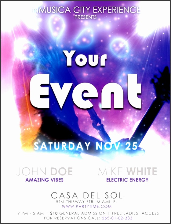 music energies flyer