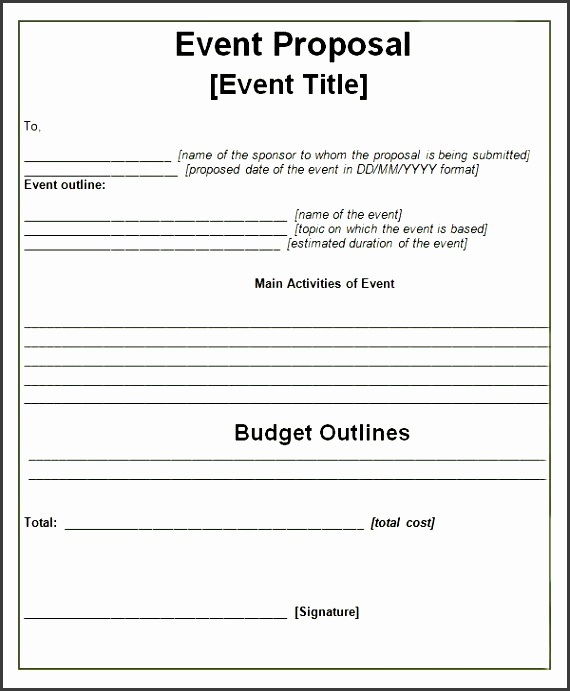 event proposal templates more