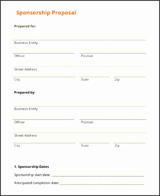 event sponsorship proposal template free pdf