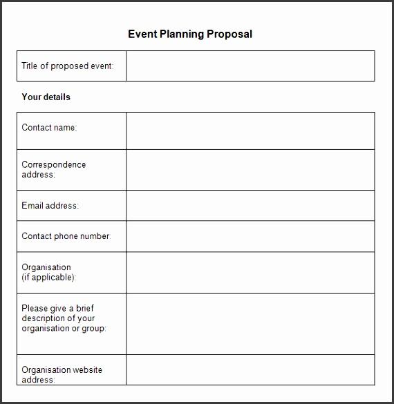 10 Event Proposal Printable