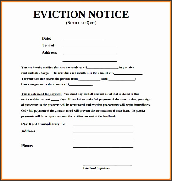 eviction notice south africample eviction notice form