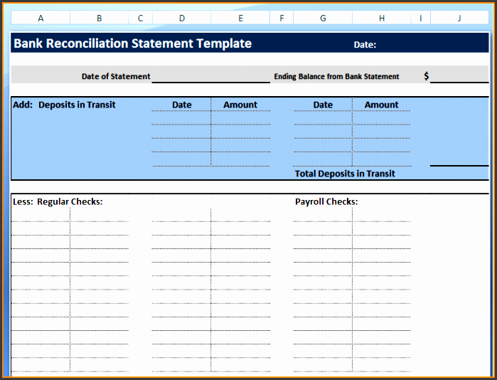 7 excel bank statement template sampletemplatess