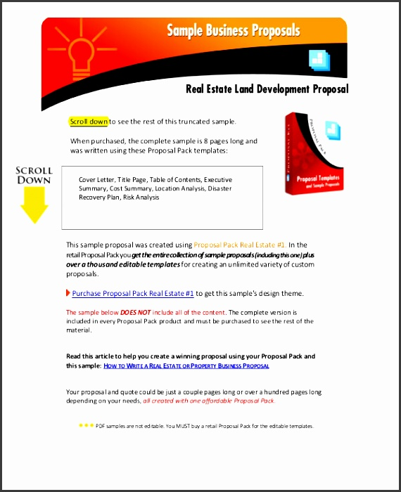real estate proposal example