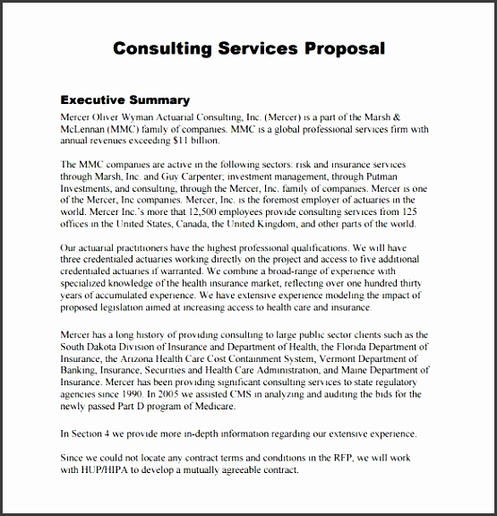 consulting proposal template best template examples