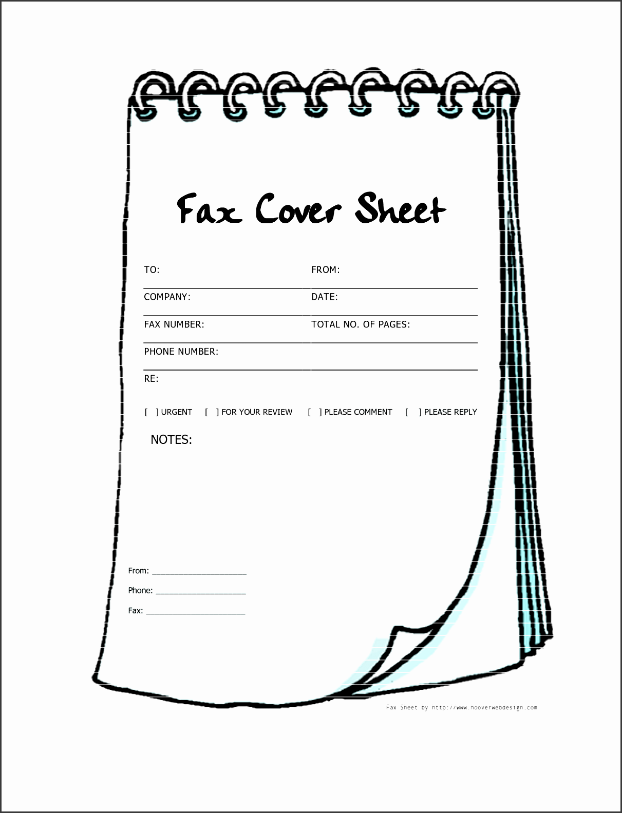 Nice Free Printable Fax Cover Sheets Free Printable Fax Cover Sheet Template  Notebook Pdf