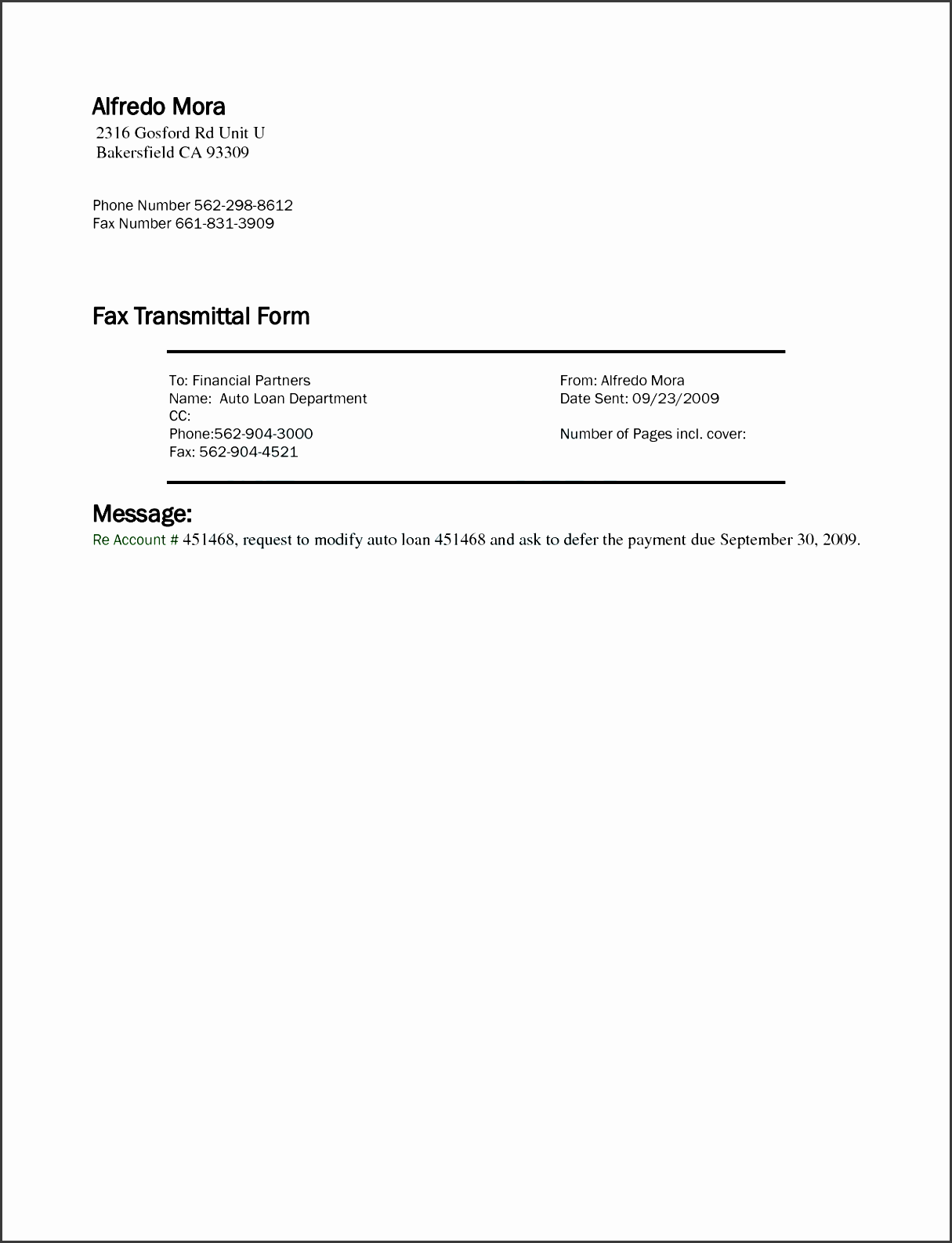 10 fax transmittal template