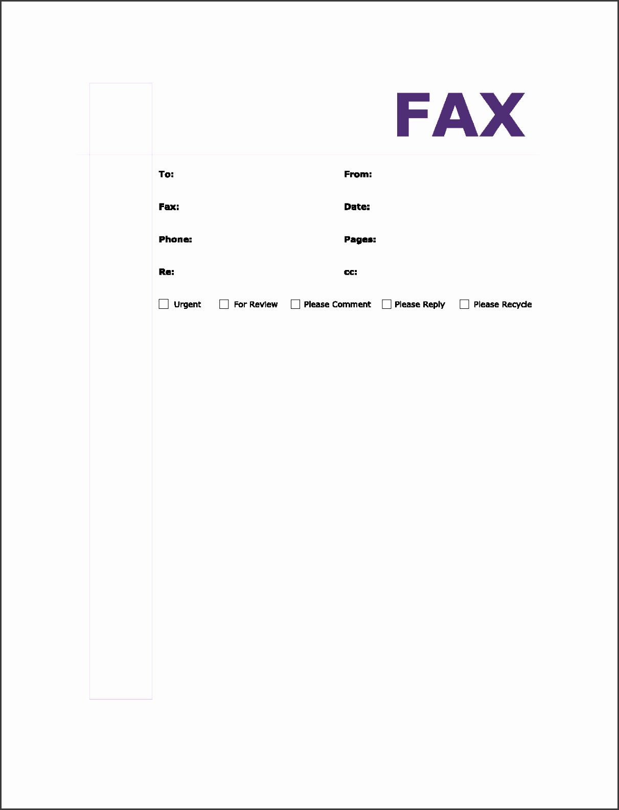 Awesome Fax Transmittal Template Images - Entry Level Resume ...