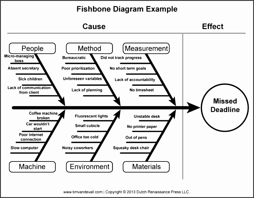 5 fishbone diagram format