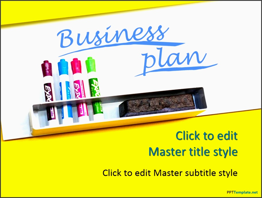 business plan yellow ppt template 0001 1