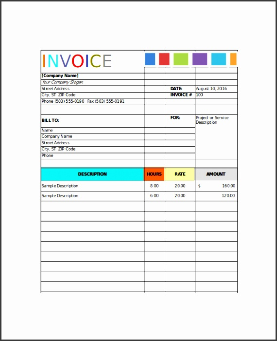 house painting invoice template