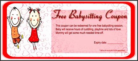 6 free coupon template sampletemplatess babysitting coupon template free pronofoot35fo Choice Image
