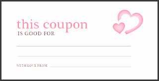 6 free coupon template sampletemplatess sampletemplatess for Love coupon template for word