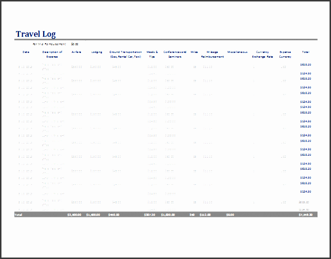daily activities log template excel ms excel travel log template word document templates