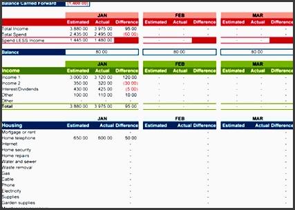 excel bud planner template