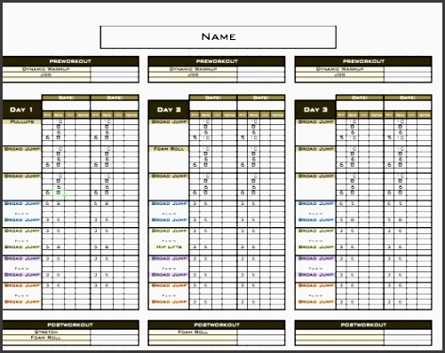 8 free fitness plan template in excel sampletemplatess for Bodybuilding excel template