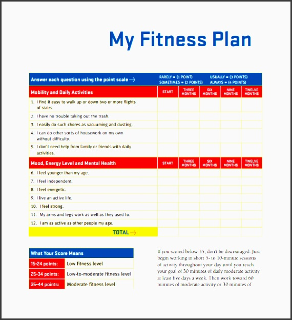 fitness plan template pdf ef bb bf