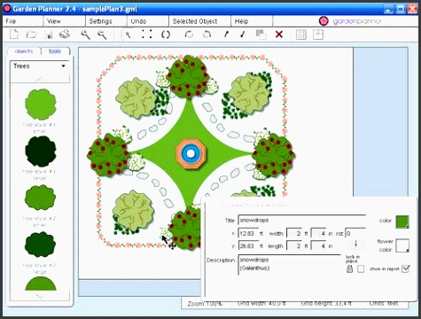 5 free garden planner template online sampletemplatess for Furniture planning tool free
