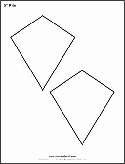 printable kite stencil