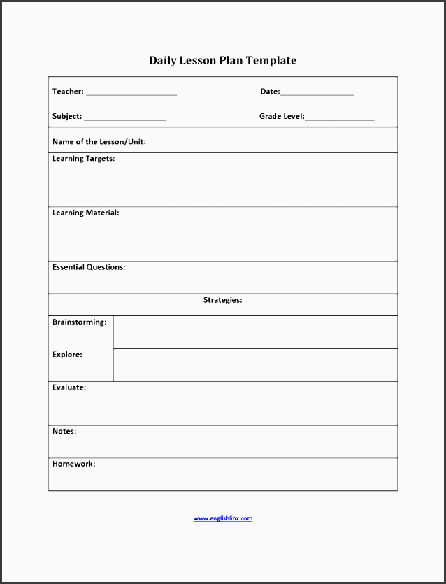 Free Lesson Planner Template Online SampleTemplatess - Lesson plan templates free