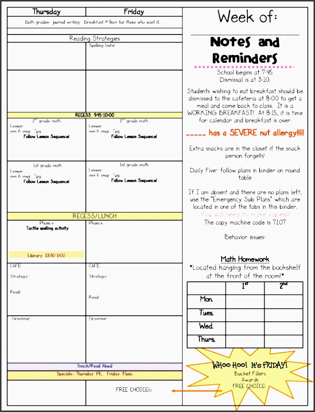 9 free lesson planner template online
