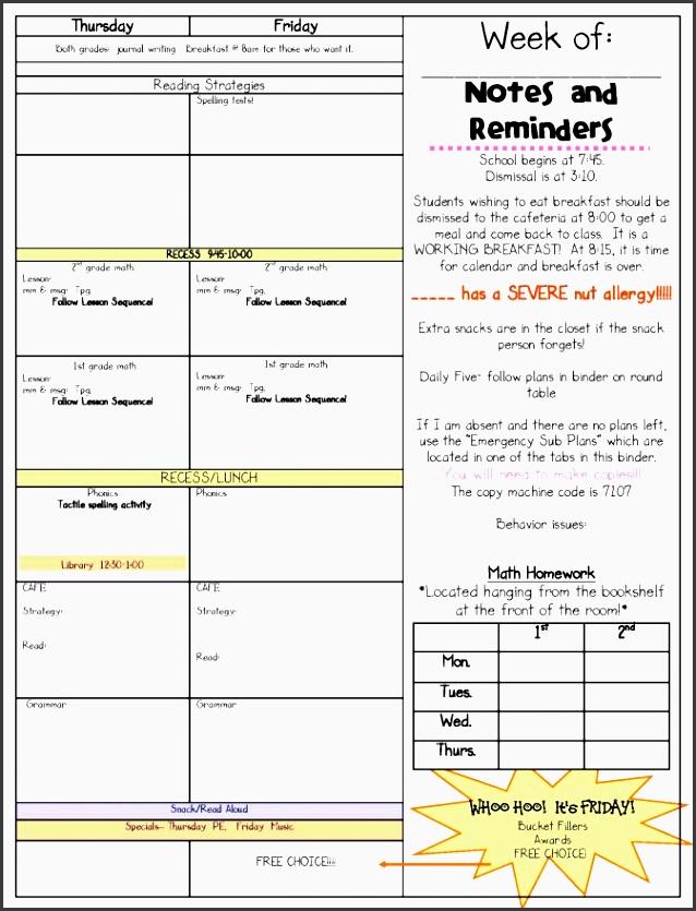 9 Free Lesson Planner Template Online Sampletemplatess
