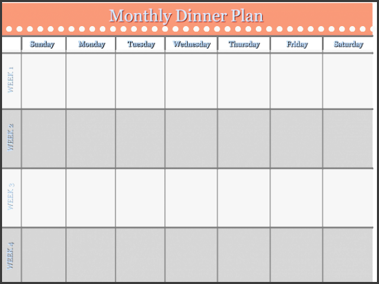 home management binder free templates monthly dinner schedule when it es to planning and organizing