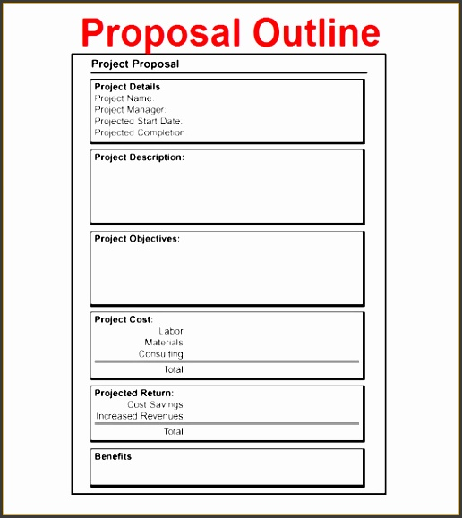 free project proposal outline